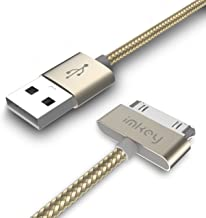 Samsung Galaxy Tab Cable, IMKEY Premium 6.5 Feet Tangle-Free Braided USB to 30 Pin Sync Data Fast Charging Cable For Samsung-Galaxy Tab 2 10.1