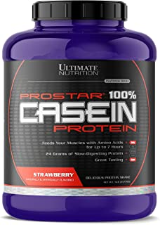 Ultimate Nutrition Hydrolyzed and Micellar Casein Anti Catabolic Protein Powder - 2 In 1 Rapid and Slow Digestion Formula, 5 Pounds, Strawberry