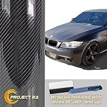 Optix 7D Premium High Gloss Carbon Fiber Vinyl Wrap Roll Bubble Free Air Release 6D - 36