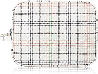 Cosmetic Bags, RBEIK Luxury PU Leather Waterproof Checkered Makeup Bags, Portable Simple Storage Bags Small Travel Organizer Zipper Pouch Toiletry Bags for Women Men Girls (Pattern 04)