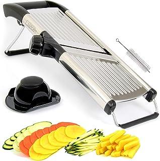 LUVEH Best Coupe-légumes Pour Cuisine Professionnelle En Acier Inoxydable Mandolina. Slicer Cut Slice Légumes Réglable Mul...