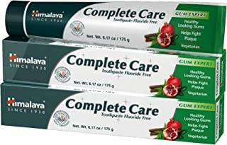 Himalaya Complete Care Toothpaste, Antiplaque Toothpaste, for Healthy-Looking Gums and Long-Lasting Fresh Breath 6.17 oz (175 g) 2 Pack