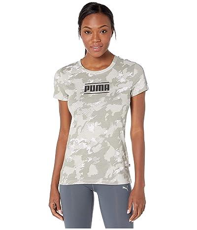 PUMA Camo Pack AOP Tee (Puma White AOP) Women
