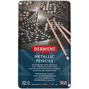 Derwent METALLIC PENCIL TIN MULTI CLRS