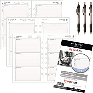 at-A-Glance Day Runner Weekly Planner Refill, January 2019 - December 2019, 5-1/2