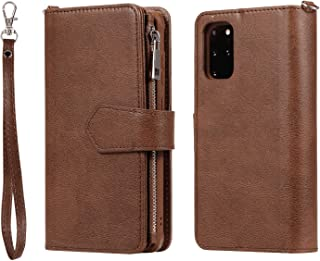 Leather Flip Case Fit for Samsung Galaxy S10, brown Wallet Cover for Samsung Galaxy S10