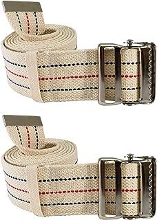 Secure (Pack of 2) Transfer & Walking Gait Belt with Metal Buckle and Belt Loop Holder for Caregiver, Nurse, Therapist, etc. ((Pack of 2) 60