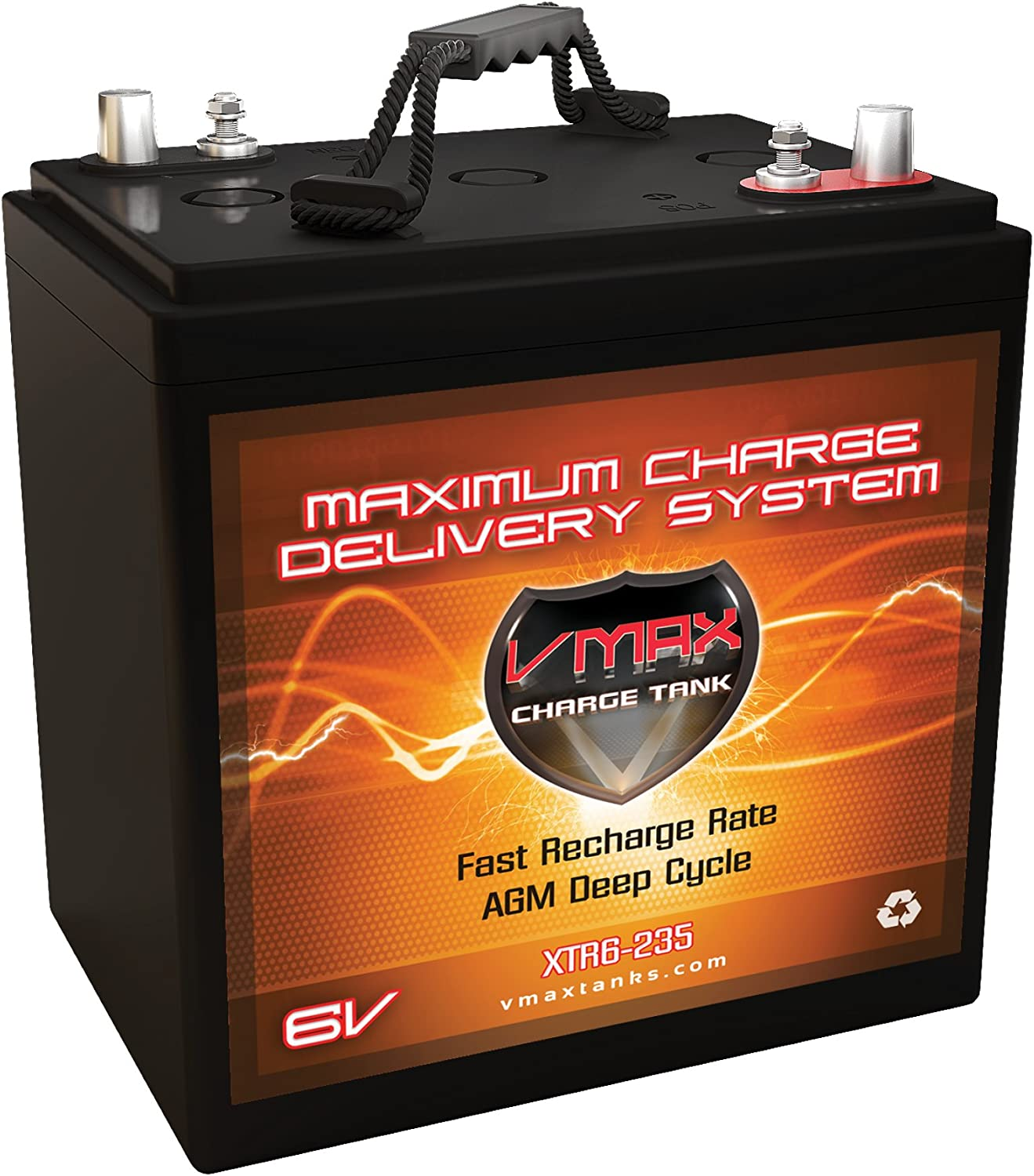 VMAX Large-scale sale XTR6-235 6Volt 235ah Golf Cart Replaces GC-2 Battery AGM Attention brand In