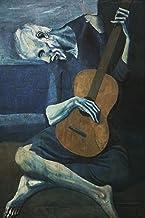 WallBuddy The Old Guitarrista por Pablo Picasso 1903 Picasso Art Picasso - Pintura de Gran tamaño, diseño de El Hombre con la Guitarra Azul, 16 x 20