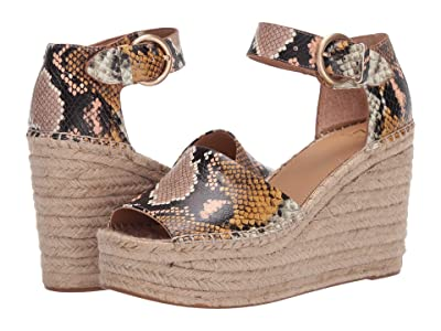 Marc Fisher LTD Alida Espadrille Wedge (Natural Multi) Women