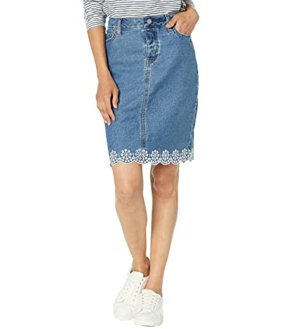 Tommy Hilfiger Adaptive Scalloped Hem Denim Skirt with Magnetic Fly