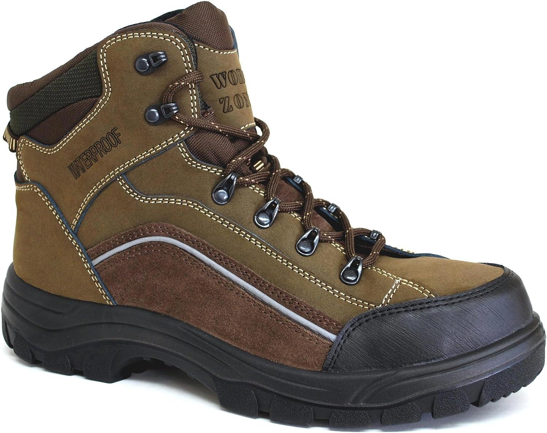 6  Olive Nubuck Waterproof Hiker COMP Toe - Footwear  Men's Footwear  Men's Work