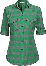 button up plaid print turndown collar curved shirt