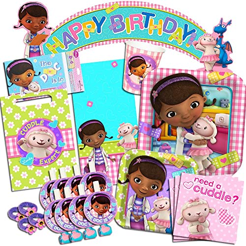 Disney Doc McStuffins Party Supplies Ultimate Set Birthday Favors Plates Cups