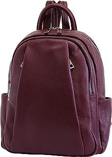 AmbraModa Italienische Damen Rucksack Handtasche aus echtem Leder GL029