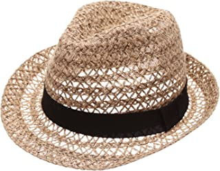Summer Foldable Trilby Short Brim Lightweight Crushable Fedora Hat with Band