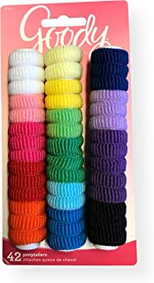 Goody 32819 Ouchless Tiny Terry Ponytailers, Assorted Colors, 42 Piece Per Blister Pack