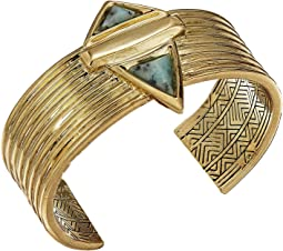Pyramid Stone Cuff Bracelet