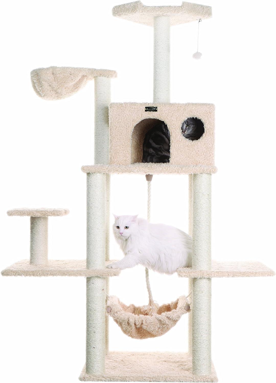 Armarkat Classic Cat Tree, Model A6901, 69 inch, Beige by Aeromark International
