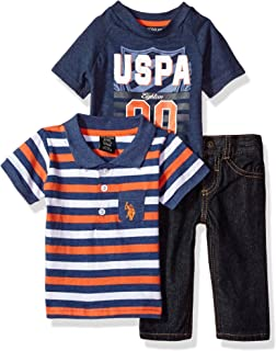 Baby Boys' Polo, T-Shirt and Pant Set