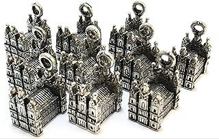 Set of Ten (10) Silver Tone Pewter Mormon Temple Charms