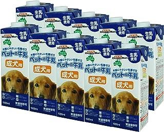 ドギーマン 犬用おやつ ペットの牛乳 成犬用 1000mL×10個 (ケース販売)