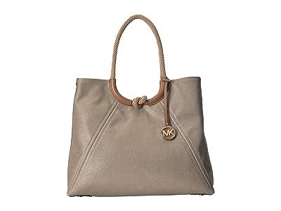 MICHAEL Michael Kors Isla Ring Shoulder Tote (Pale Gold) Tote Handbags