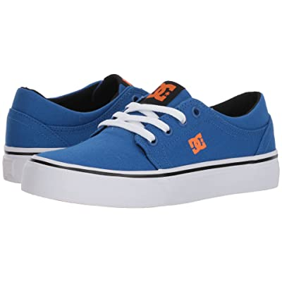 DC Kids Trase TX (Little Kid/Big Kid) (Blue/White/Orange) Boys Shoes