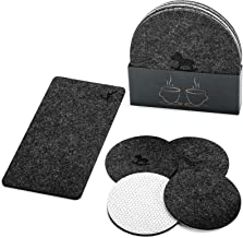 Absorbent Felt Fabric Table Coasters for Drinks Set of 10 Pieces for Cup and Cellphone,Suitable for Any Furniture Table,Pr...
