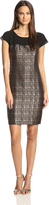 women Morgan Women's ShortSleeve Dress with Illusion Shoulder