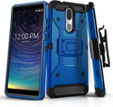Phone Case for [COOLPAD Legacy (Metro PCS, T-Mobile)], [Tank Series][Blue] Shockproof Defender Cover with [Kickstand] & [Swivel Belt Clip Holster] for Coolpad Legacy (Metro PCS, T-Mobile)