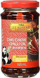 Lee Kum Kee Chili Öl Chiu Chow aus China, pikant, sehr scharf, ohne Konservierungsstoffe, ohne Farbstoffe, vegan 1 x 165 ml