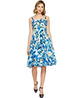 Unique Vintage - Golightly Bow Swing Dress