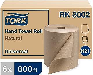 Tork Universal RK8002 Hardwound Paper Roll Towel, 1-Ply, 7.875