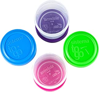 Sistema 4 Dressing To Go Containers, 1.18 Ounce, 12-pack (48 Containers Total)