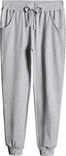 Weintee Women's Cotton Jersey Pocket Joggers Small Oxford Gray