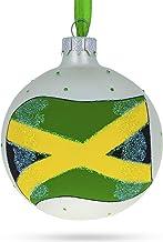 BestPysanky Flag of Jamaica Glass Ball Christmas Ornament