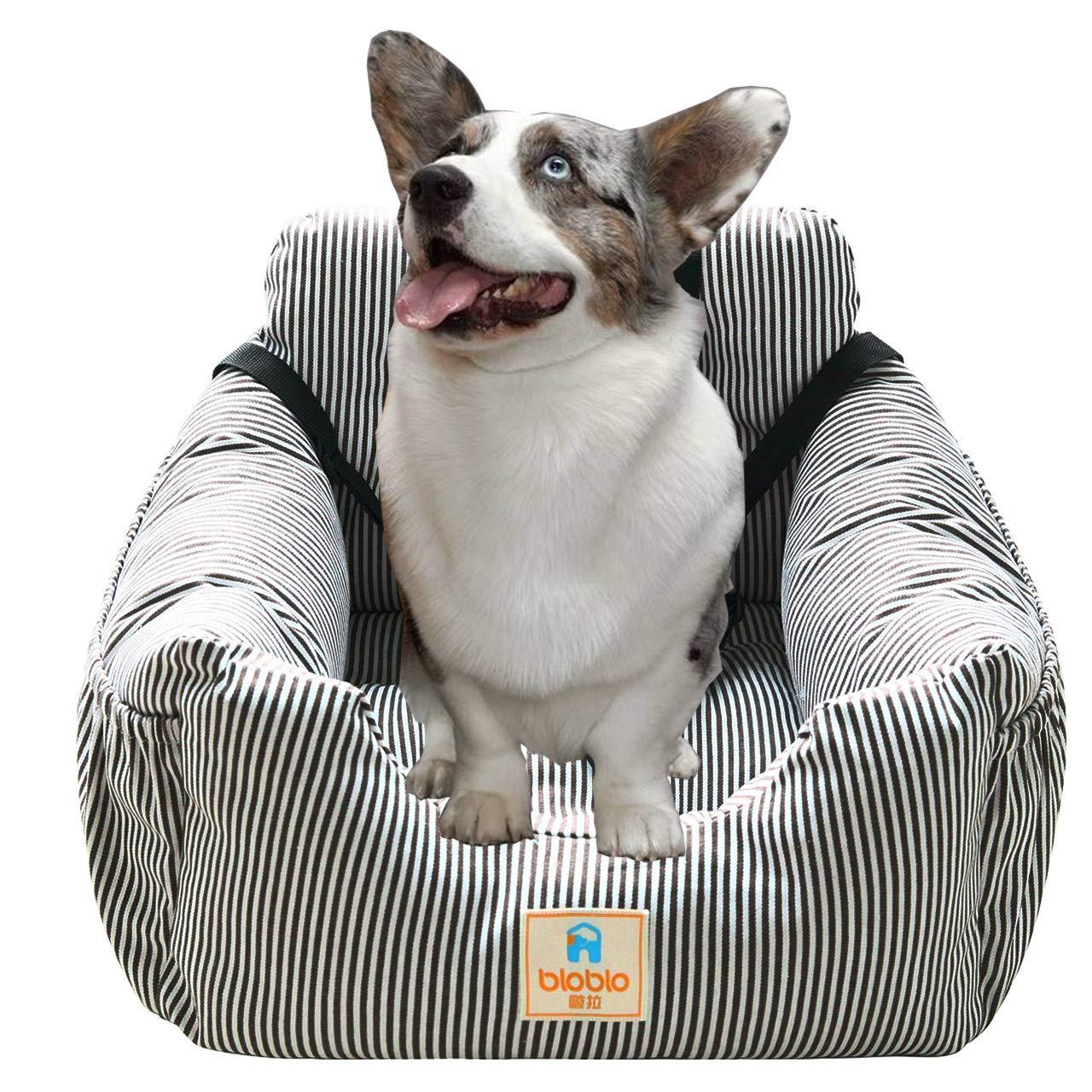 MONIKI - Asiento de Coche para Perro, Elevador de Asiento Delantero para viajeros, Lavable y Antideslizante, con cinturón y Bolsa de Almacenamiento: Amazon.es: Productos para mascotas