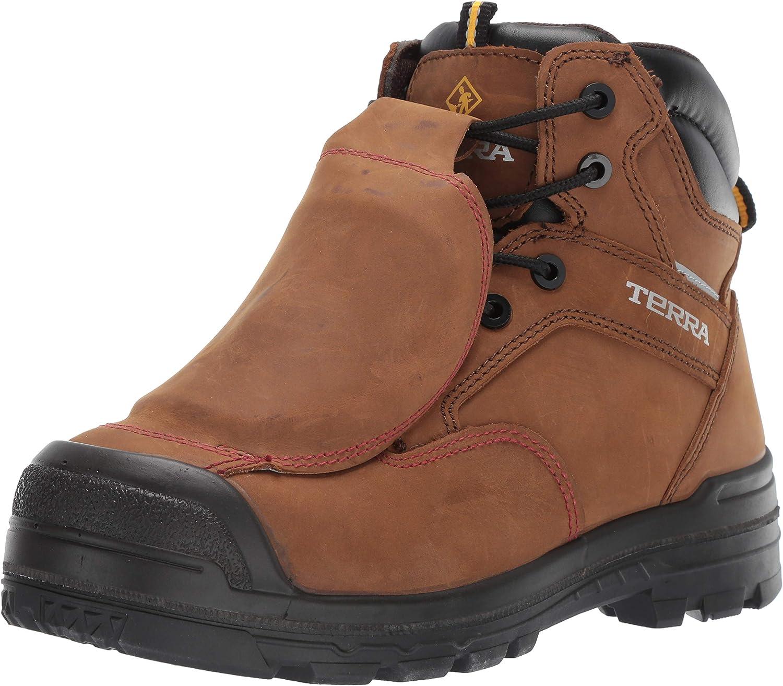 Terra Men's Barricade 6  Metguard Composite Toe Insulated Waterproof Puncture Resistant Industrial Boot