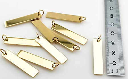 Gold Plated Stainless Steel Bar Blanks High Quality Package of 10 USA