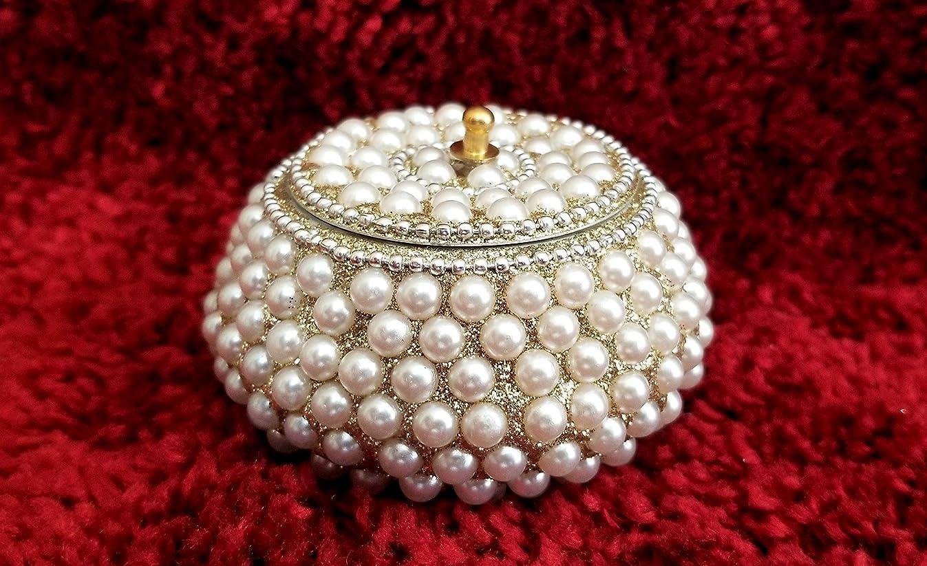 RK Collections Decorative Trinket Jewelry Keepsake Storage Box. Small Trinket Storage Organizer Chest Faux Pearl. Treasure/Chest for Gift Box.