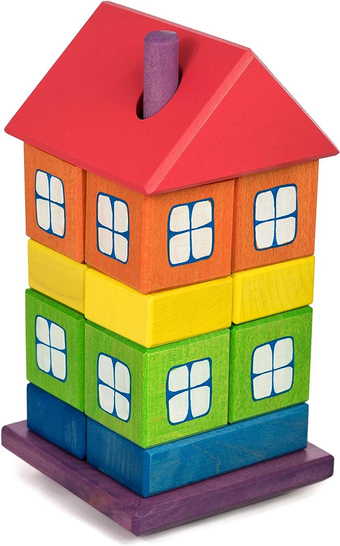 TARNAWA Holzhaus Bauholz Farbe Regenbogen Spielzeug Holz - 12205 B07L2RMPCY  Zuverlässige Qualität | Discount