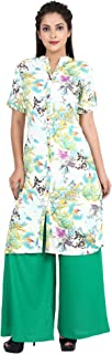 Exclusive Indo-Western Bird Print Desigener Women's Kurta Kurti With Rayon Palazzo Set