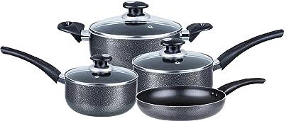 Brentwood Appliances BRENTWOOD Aluminum Cookware, 7 Piece, Gray