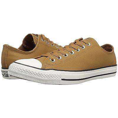 Converse Chuck Taylor All Star Leather Ox (Burnt Caramel/Burnt Caramel/Egret) Shoes