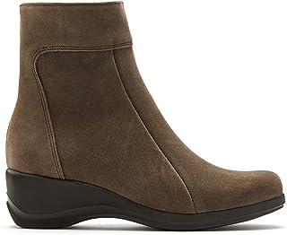 La Canadienne Tina - Women's Luxury Handmade Italian Casual Stone Waterproof Suede Wedge Heel Bootie (numeric_9_point_5)