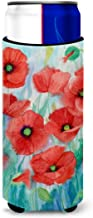 Caroline's Treasures Poppies Michelob Ultra Koozies for Slim Cans, Multicolor