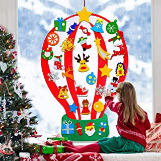 4 ft Felt Christmas Tree for Kids DIY Christmas Tree with 35 Pcs Detachable Xmas Ornaments Handmade Educational Toy Window...