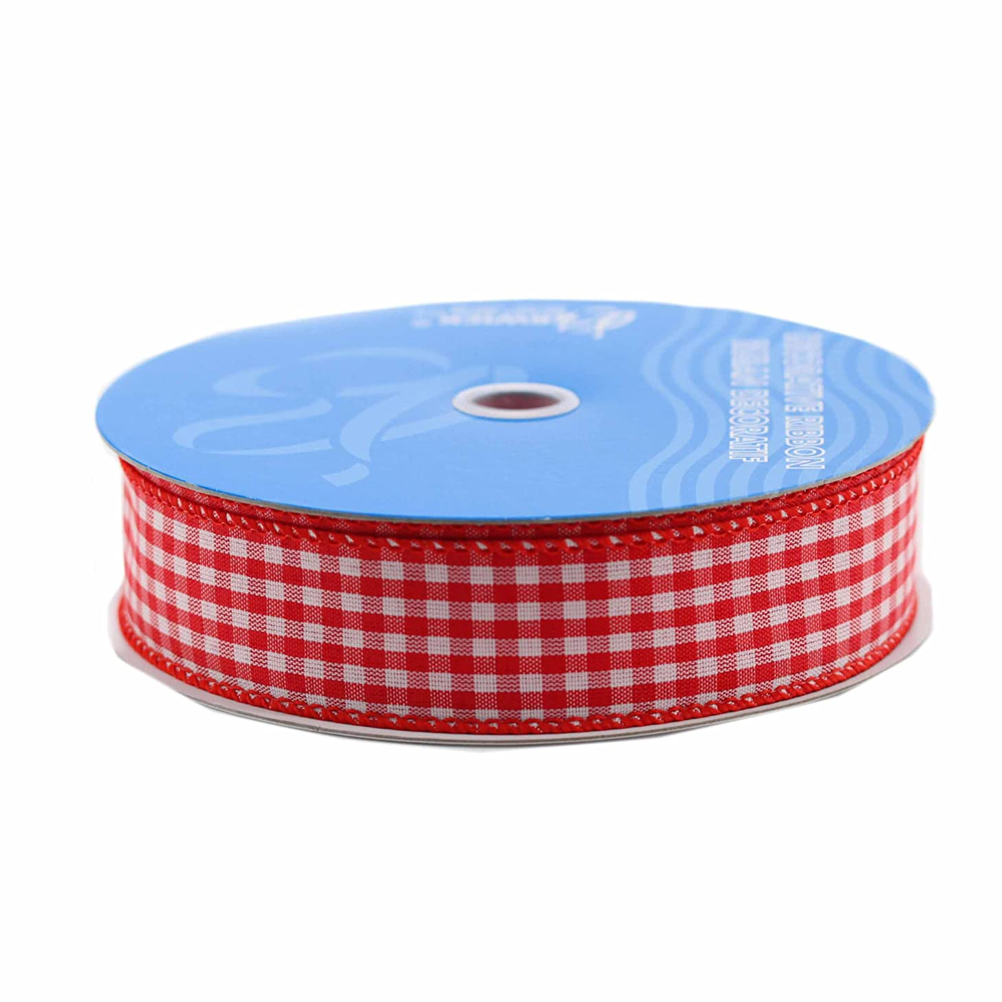 Berwick Wired Edge Picnic Craft Ribbon, 1-1/2-Inch by 50-Yard Spool, Red