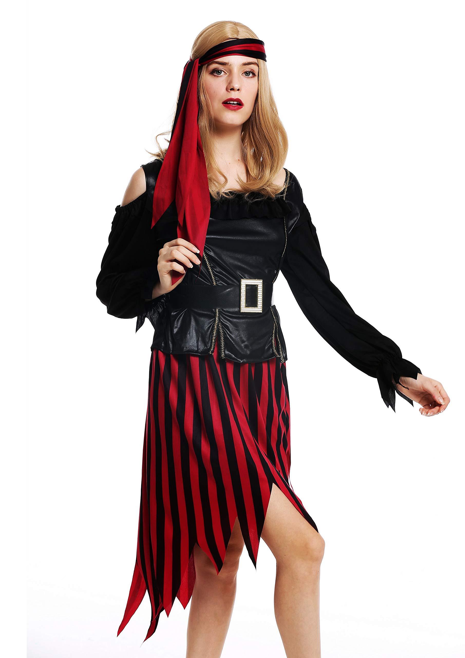 dressmeup - W-0287-S/M Disfraz Mujer Feminino Pirata flibustera ...
